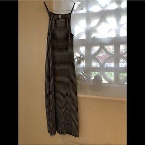 American apparel stripe tank midi dress